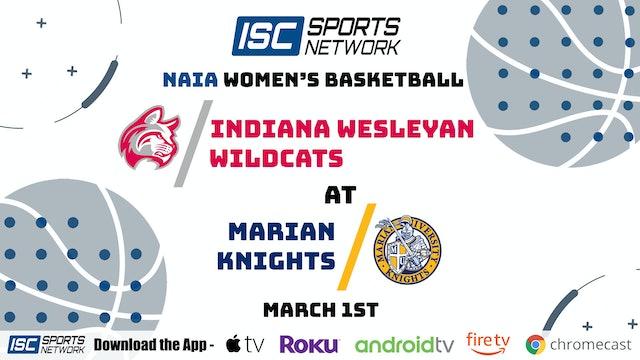 2021 WBB Indiana Wesleyan at Marian 3/1