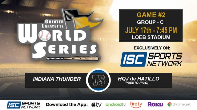 2019 GLWS G2 Indiana Thunder vs Puert...