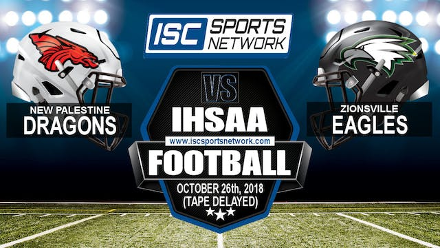 2018 IHSAA FB New Palestine at Zionsv...