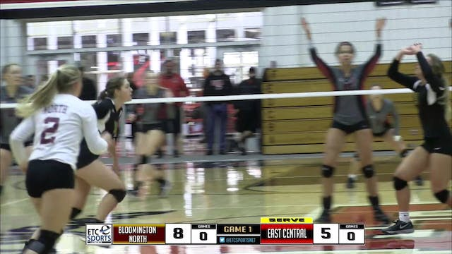 2016 IHSAA VB Bloomington North vs Ea...