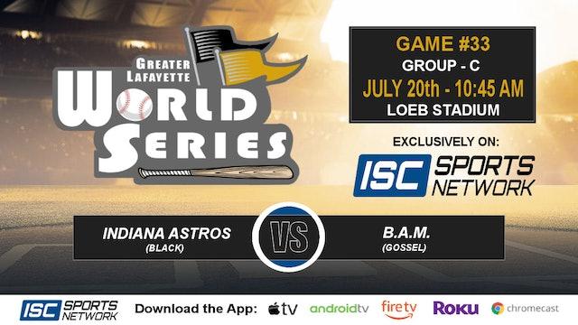 2019 GLWS G33 Indiana Astros vs Baseball Academies