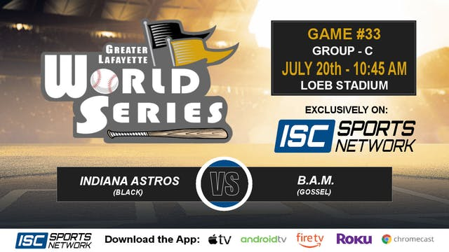 2019 GLWS G33 Indiana Astros vs Baseb...