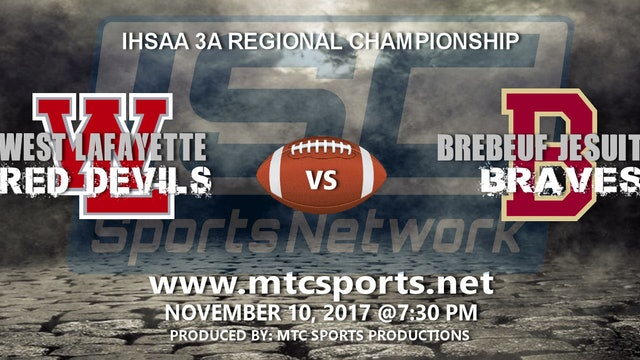 2017 IHSAA FB West Lafayette at Brebeuf