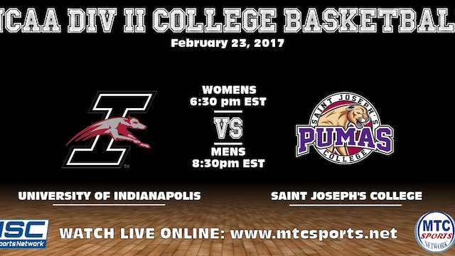 2017 MBB UIndy at St Joseph's 2-23