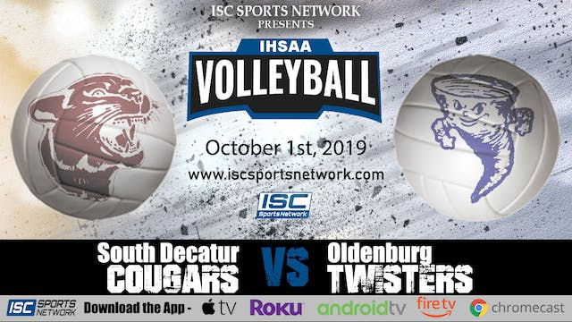 2019 VB South Decatur at Oldenburg