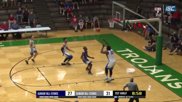 2019 IBCA Jr vs Sr All Stars Jackson Davis dunk