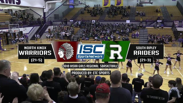 2018 IHSAA GBB North Knox vs South Ripley