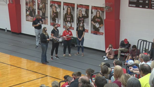 2020 VB Tipton at Clinton Prairie Senior Night Recognition