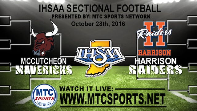 2016 FB IHSAA McCutcheon at Harrison