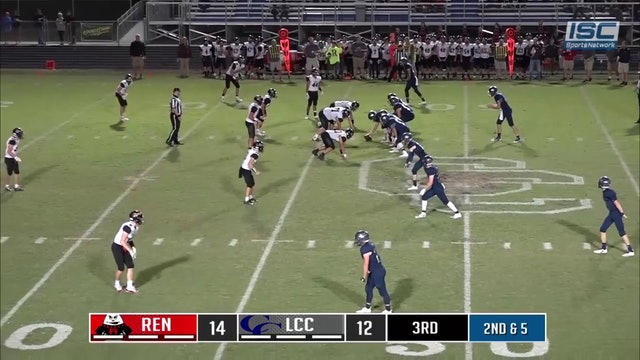 2018 FB Rens at LCC TD Pass
