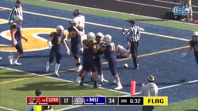 2018 CFB Concordia at Marian Darter to Armstrong TD