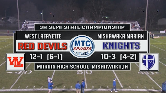 2015 IHSAA FB West Lafayette at Mishawaka Marian