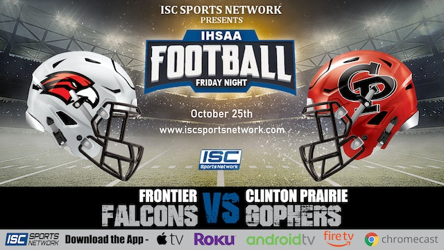 2019 IHSAA FB Frontier at Clinton Praririe