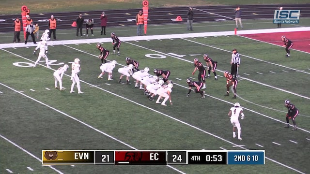 2018 IHSAA FB Evansville Central vs East Central TD to win