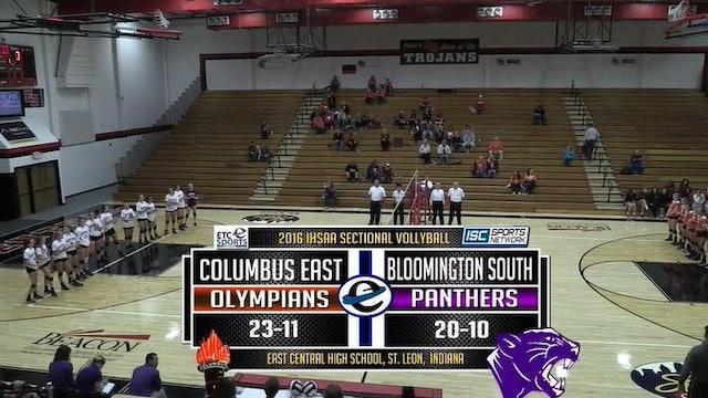 2016 IHSAA GVB Columbus East vs Bloomington South 10/22