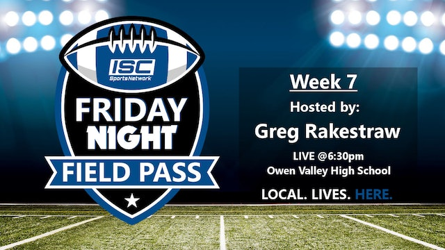2018 FB Week 7 Friday Night Field Pass Pregame Show