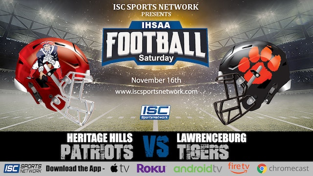 2019 IHSAA FB Heritage Hills at Lawrenceburg