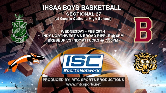 2018 IHSAA BBB Indianapolis Northwest vs Broad Ripple