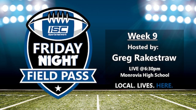 2018 FB Week 9 Friday Night Field Pass Pregame Show