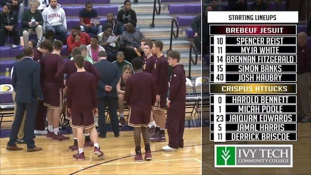 2018 IHSAA Brebeuf vs Attucks