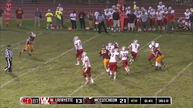 2016 West Lafayette Kidwell to Marley terrific throw and catch TD