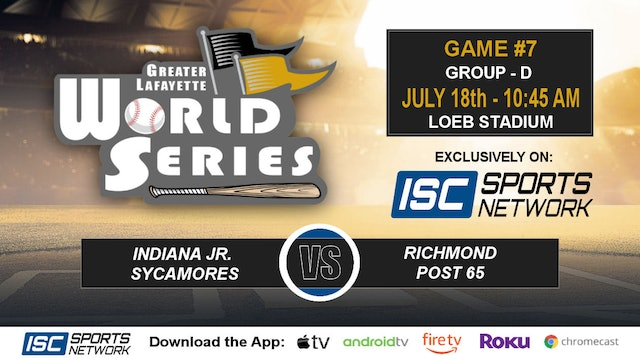2019 GLWS G7 IN Jr Sycamores vs Richmond Post 65