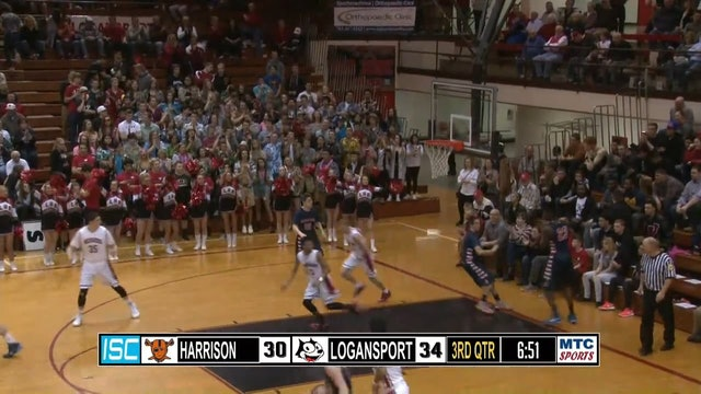 2015 Sectionals Harrison vs Logansport Carpenter dunk
