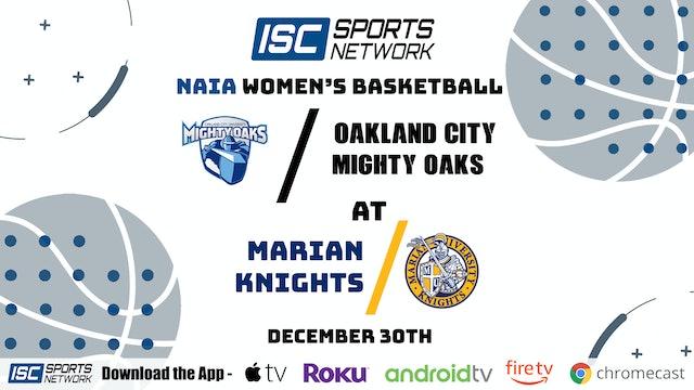 2020 WBB Oakland City at Marian