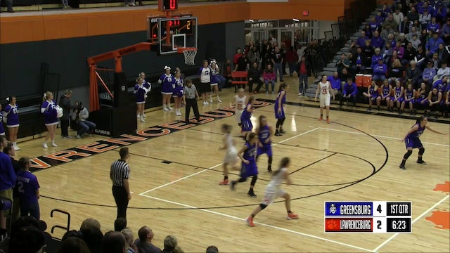 2016 IHSAA GBB Greensburg vs Lawrenceburg