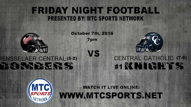 2016 FB Rensselaer Central at Central...