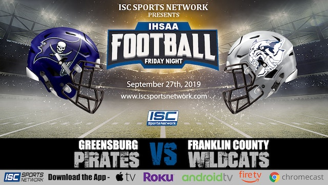 2019 FB Greensburg at Franklin County