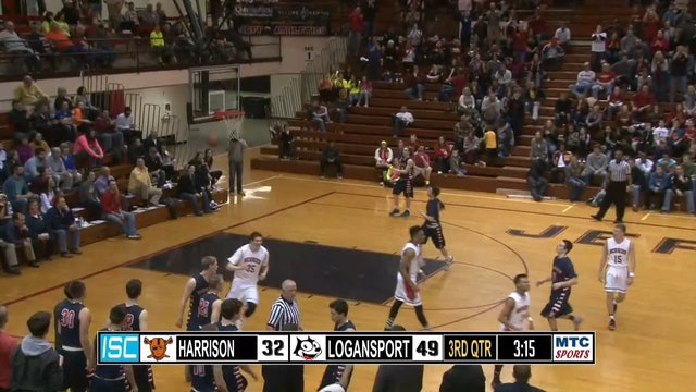 2015 Sectionals Harrison vs Logansport Adaway dunk