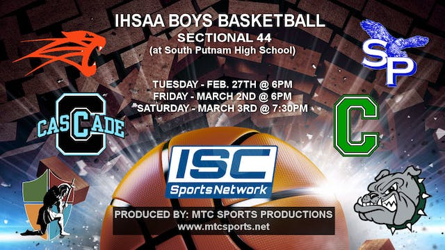 2018 IHSAA BBB South Putnam vs Clover...