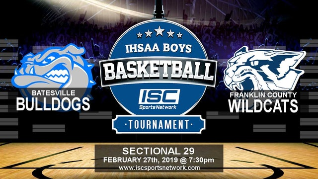 2019 IHSAA BBB Batesville vs Franklin County