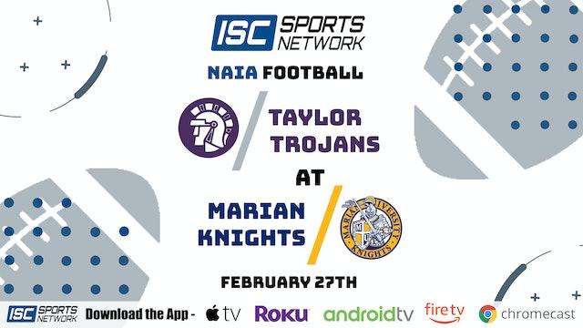 2021 CFB Taylor at Marian 2/27