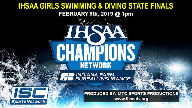 2019 IHSAA Girls Swimming & Diving St...