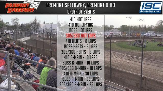 B.O.S.S. Racing at Fremont Ohio  - May 5, 2018