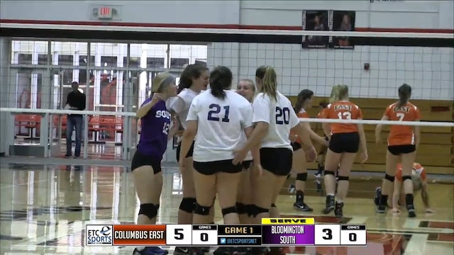 2016 IHSAA VB Columbus East vs Bloomington South