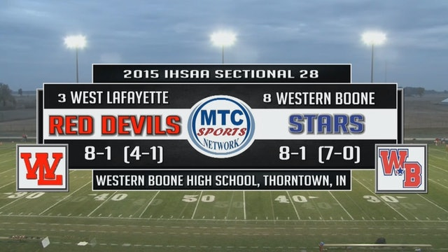 2015 IHSAA FB West Lafayette at Western Boone