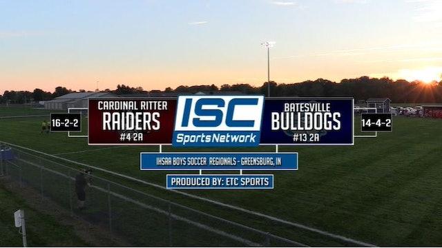 2017 IHSAA BS Indianapolis Ritter vs Batesville 10/10