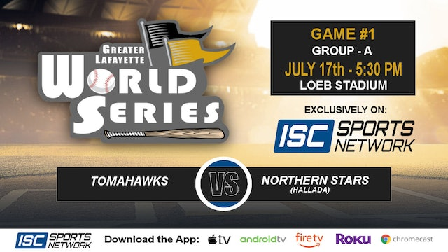 2019 GLWS G1 Tomahawks vs Northern Stars Hallada
