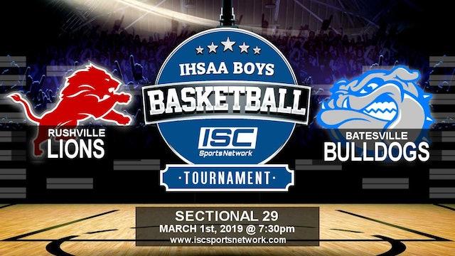 2019 IHSAA BBB Rushville vs Batesville