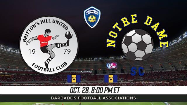 Britton's Hill United v Notre Dame SC
