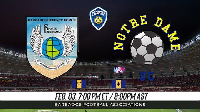 Barbados Defense Force v. Notre Dame