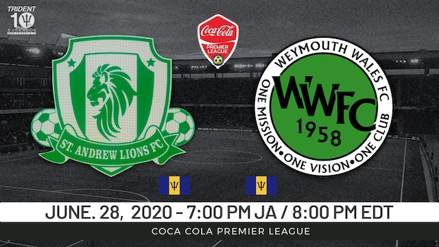 St. Andrew Lions v. Weymouth Wales