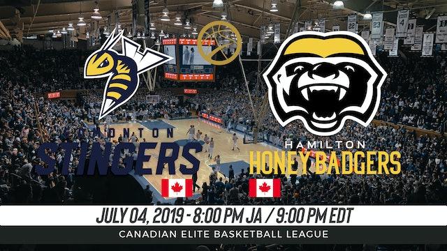 Edmonton Stingers v. Hamilton Honey Badgers