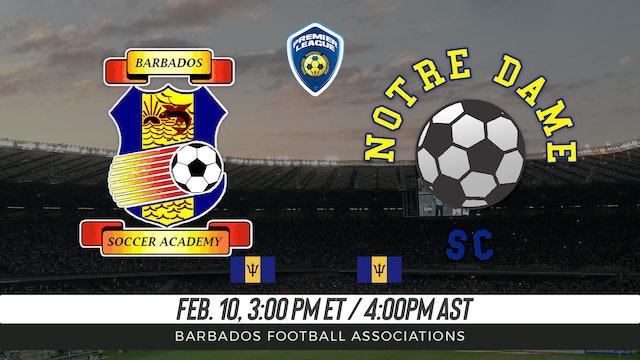 Barbados Soccer Academy v. Notre Dame