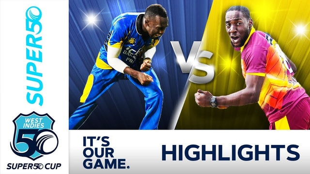 Super50 Cup - Barbados Pride v Leeward Islands Hurricanes Match Day 2