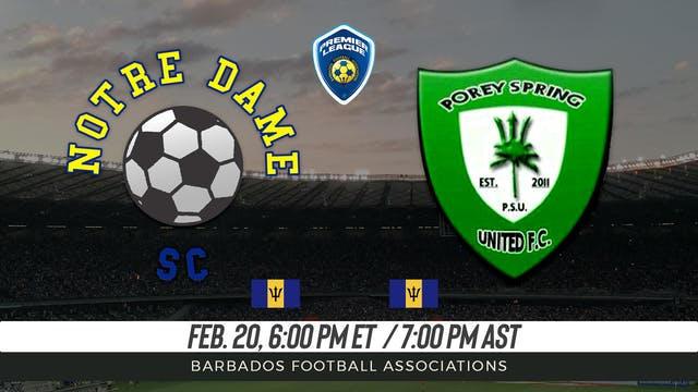 Notre Dame v. Porey Spring United