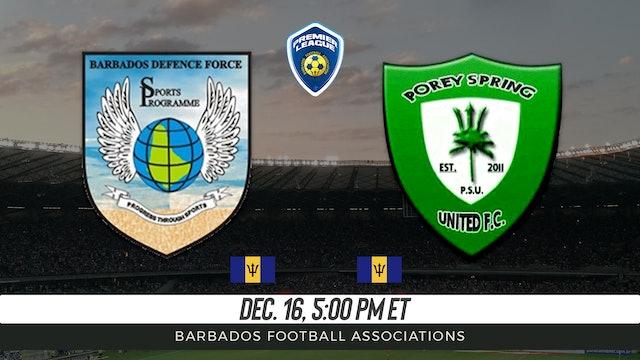 Barbados Defense Force v Porey Springs Football Club